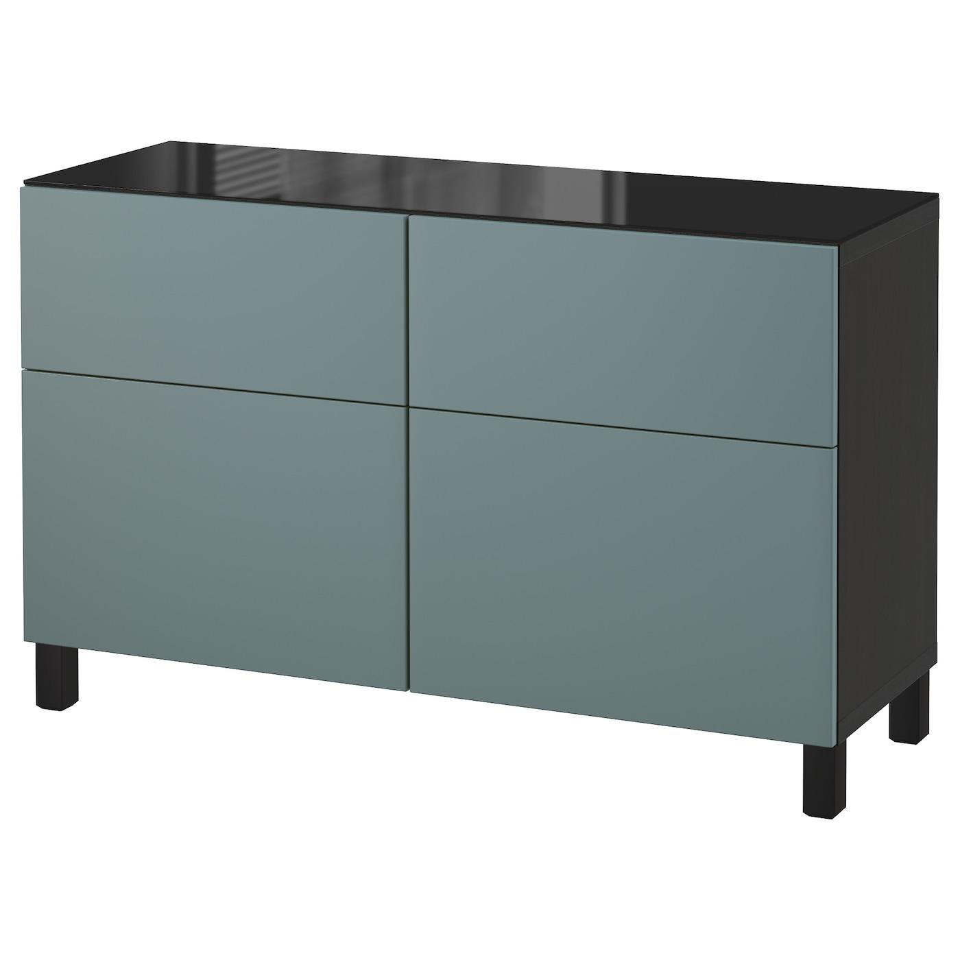 best combi rgt portes tiroirs brun noir valviken gris turquoise 120x40x74 cm ikea. Black Bedroom Furniture Sets. Home Design Ideas