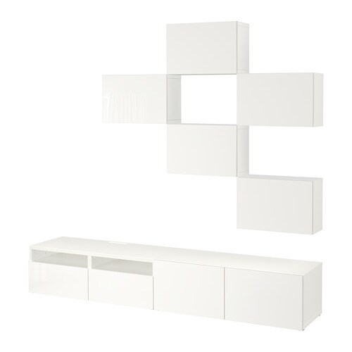 best combinaison meuble tv blanc selsviken brillant blanc 240 x 20 40 x 204 cm ikea. Black Bedroom Furniture Sets. Home Design Ideas