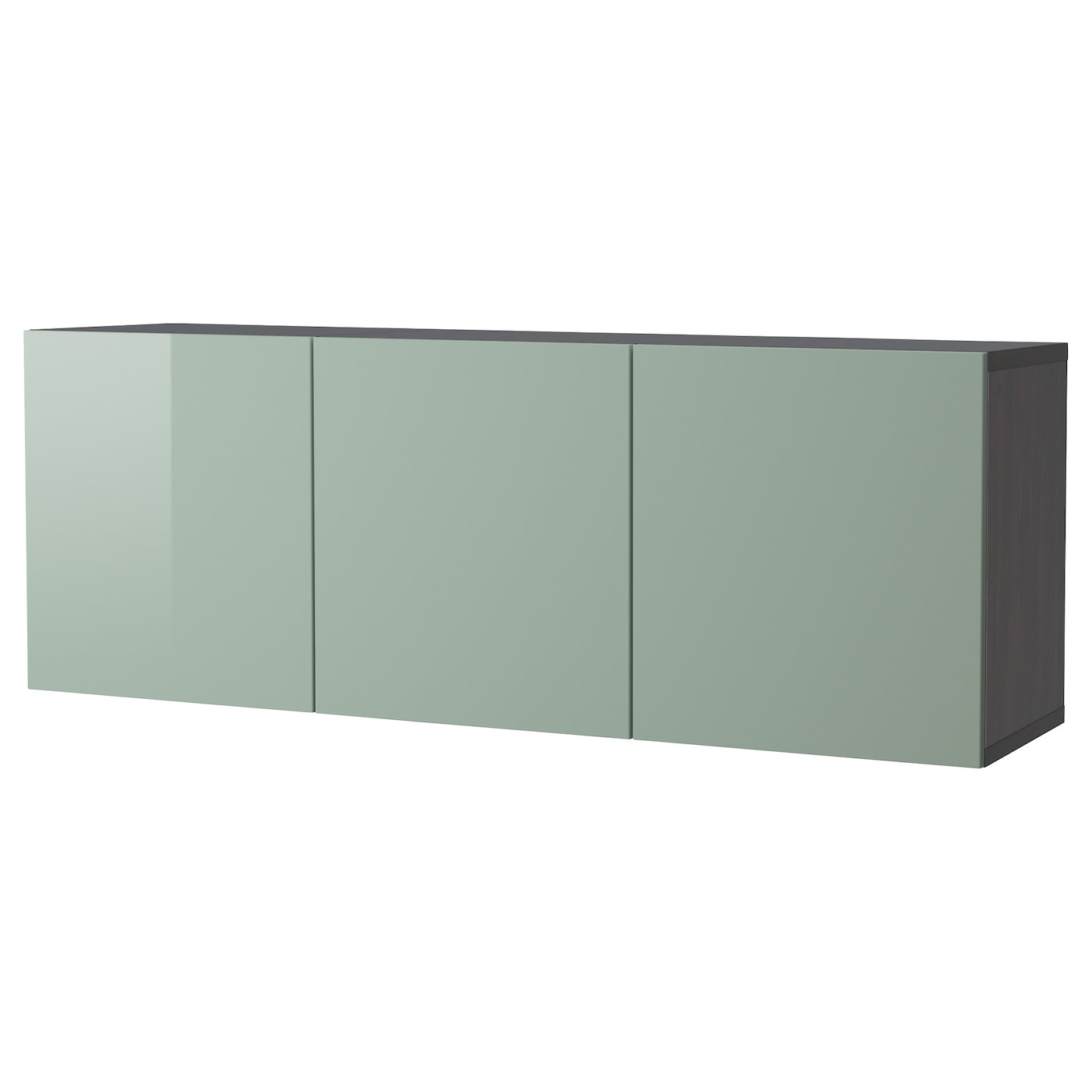 best combinaison rangement murale brun noir selsviken brillant gris vert clair 180 x 40 x 64 cm. Black Bedroom Furniture Sets. Home Design Ideas