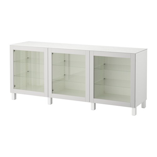 best combinaison rangement portes blanc sindvik gris clair verre transparent 180 x 42 x 74 cm. Black Bedroom Furniture Sets. Home Design Ideas