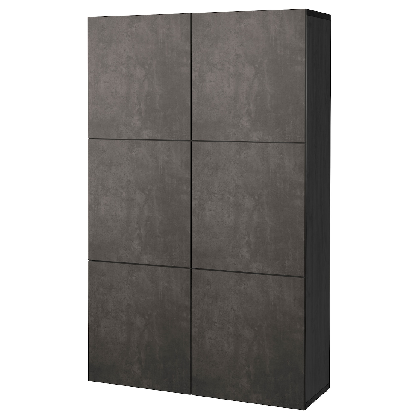 best combinaison rangement portes brun noir kallviken gris fonc imitation ciment 120 x 40 x. Black Bedroom Furniture Sets. Home Design Ideas