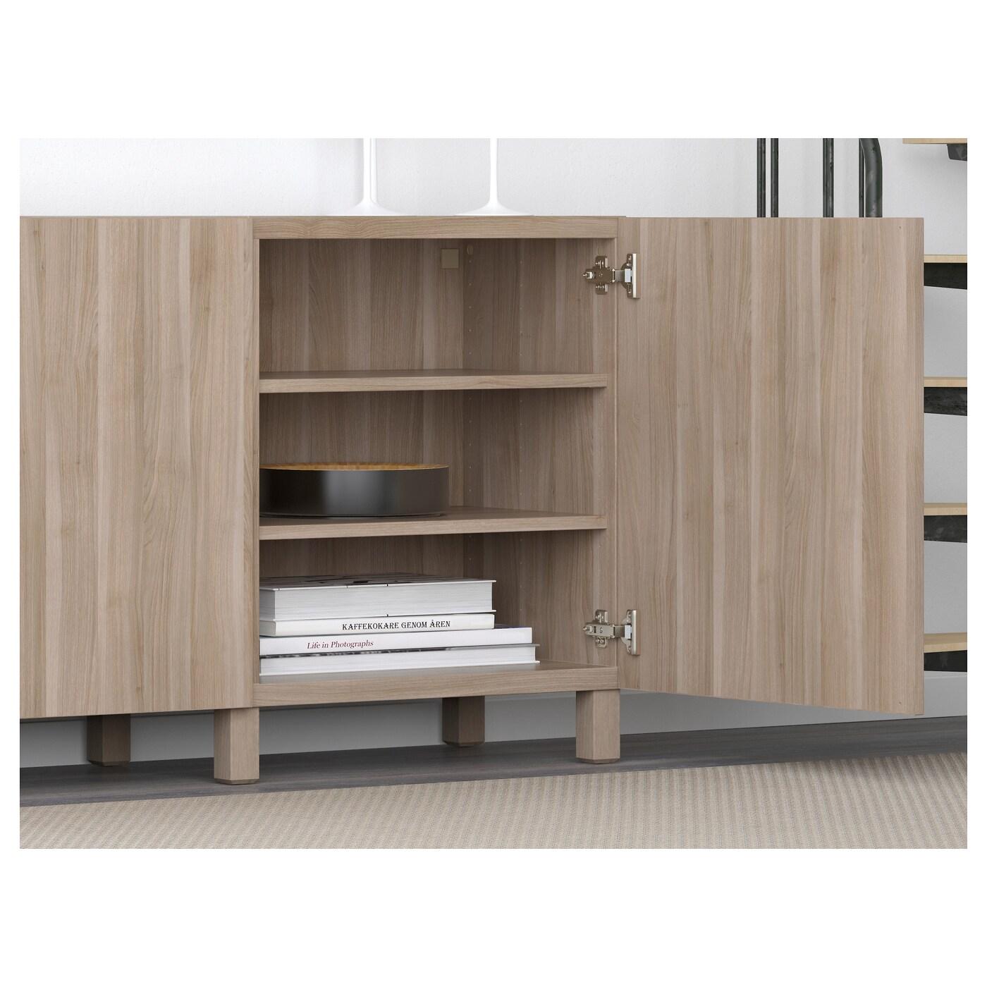 best combinaison rangement portes lappviken motif noyer teint gris 180x40x74 cm ikea. Black Bedroom Furniture Sets. Home Design Ideas