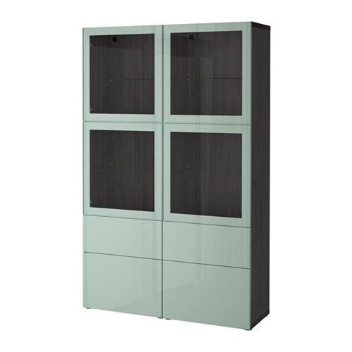 best combinaison rangement ptes vitr es brun noir selsviken brillant gris vert clair verre. Black Bedroom Furniture Sets. Home Design Ideas
