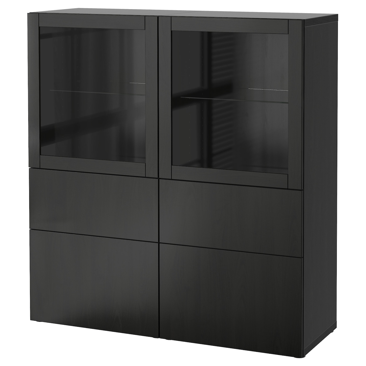 best combinaison rangement ptes vitr es lappviken sindvik brun noir verre transparent 120 x 40. Black Bedroom Furniture Sets. Home Design Ideas