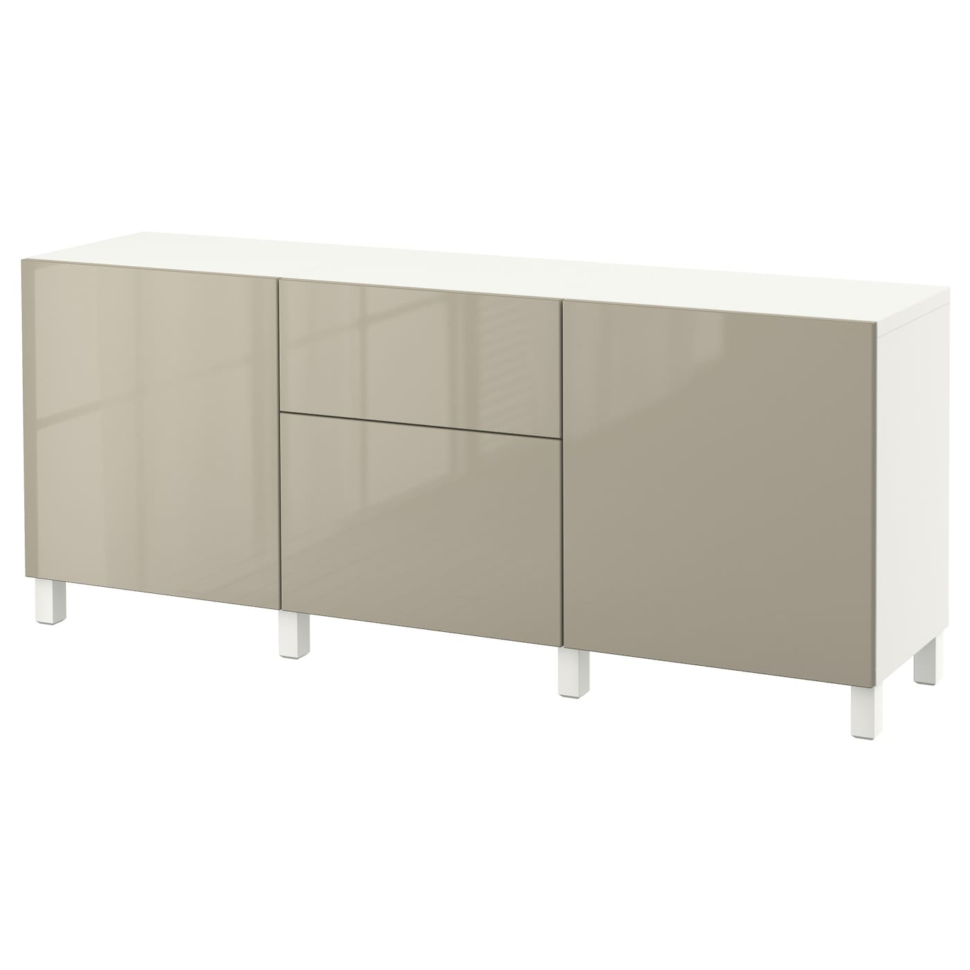 best combinaison rangement tiroirs blanc selsviken brillant beige 180x40x74 cm ikea. Black Bedroom Furniture Sets. Home Design Ideas