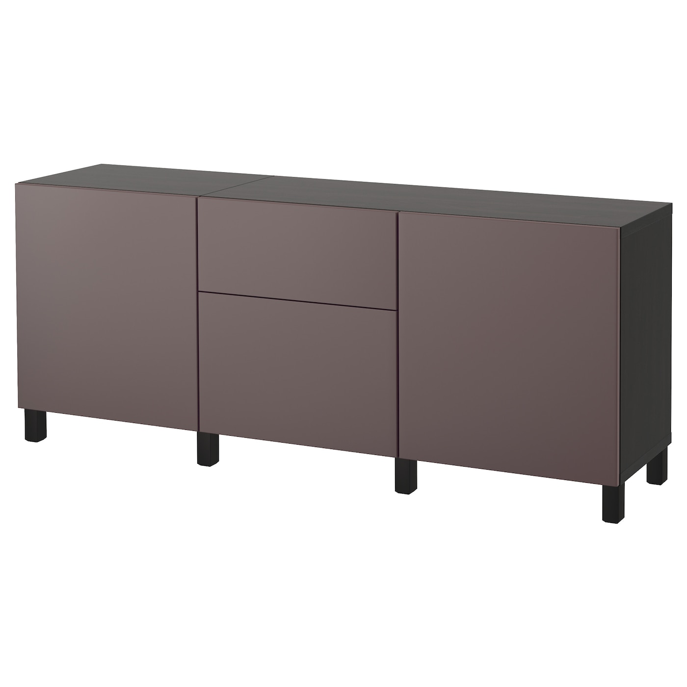 best combinaison rangement tiroirs brun noir valviken brun fonc 180x40x74 cm ikea. Black Bedroom Furniture Sets. Home Design Ideas