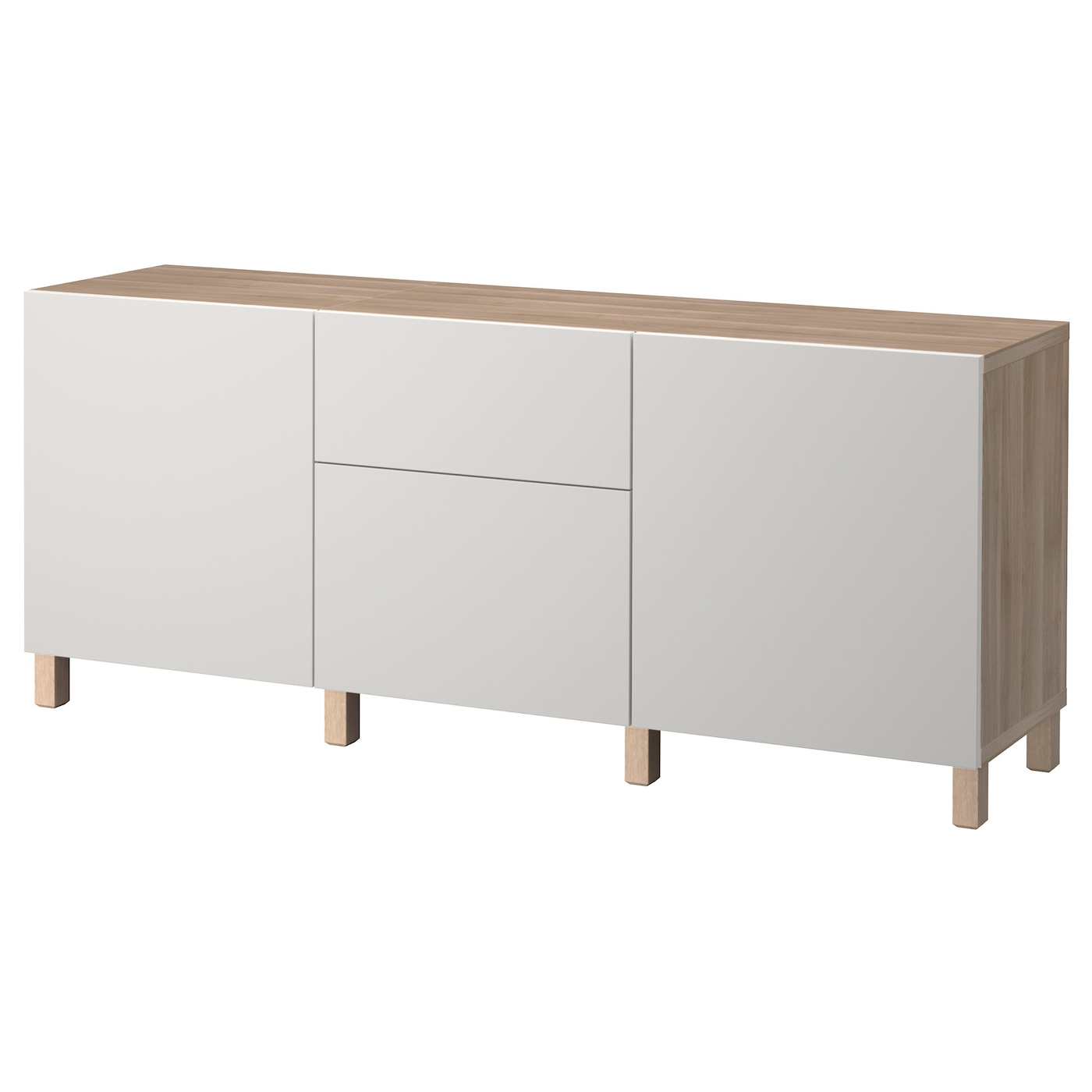 best combinaison rangement tiroirs motif noyer teint gris lappviken gris clair 180x40x74 cm ikea. Black Bedroom Furniture Sets. Home Design Ideas