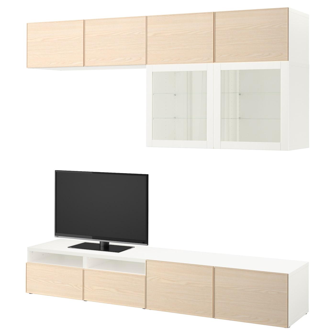 best combinaison rangt tv vitrines blanc sindvik inviken. Black Bedroom Furniture Sets. Home Design Ideas