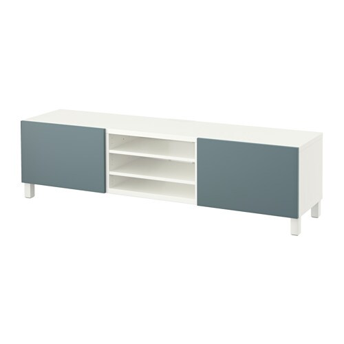 best banc tv avec tiroirs blanc valviken gris turquoise. Black Bedroom Furniture Sets. Home Design Ideas