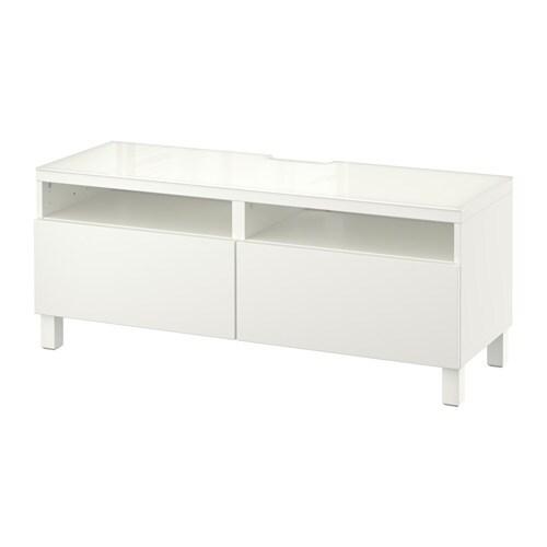 Best banc tv avec tiroirs lappviken blanc glissi re - Glissiere de tiroir a fermeture amortie ...