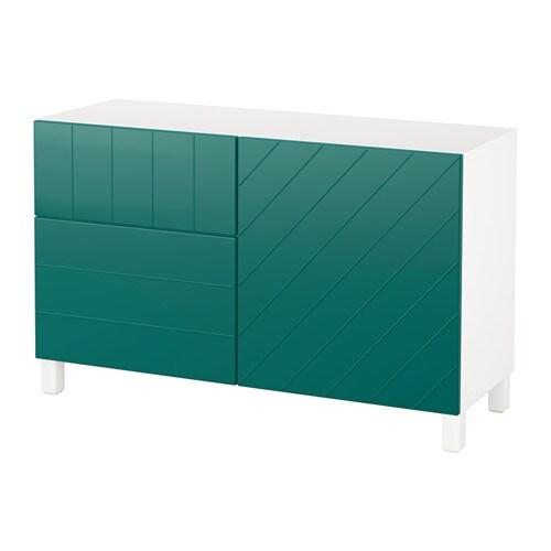 best combi rgt portes tiroirs blanc hallstavik bleu vert glissi re tiroir fermeture silence. Black Bedroom Furniture Sets. Home Design Ideas