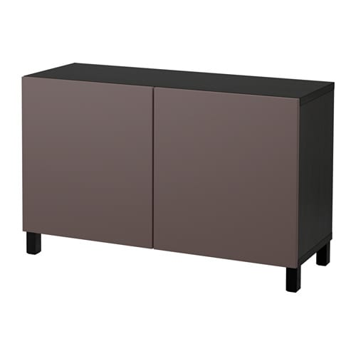 Combinaison rangement portes  brun noirValviken brun foncé  IKEA