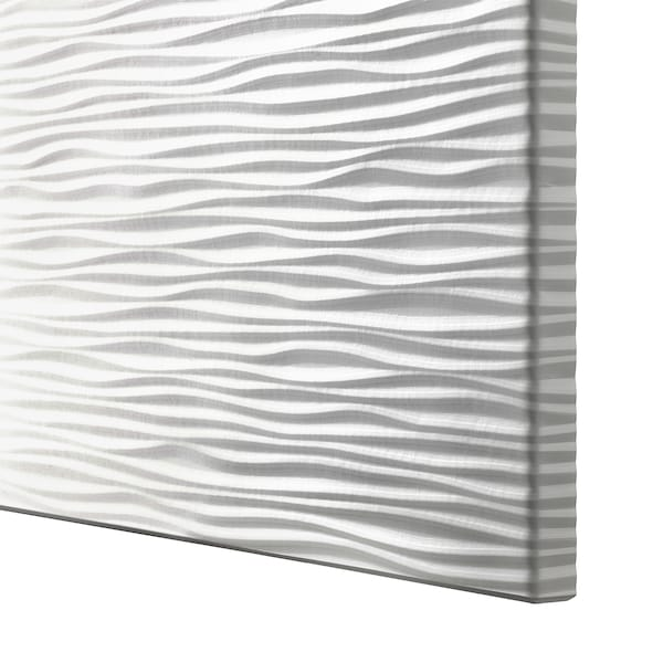 BESTÅ Combinaison rangement portes, effet chêne blanchi/Laxviken/Stubbarp blanc, 120x42x74 cm