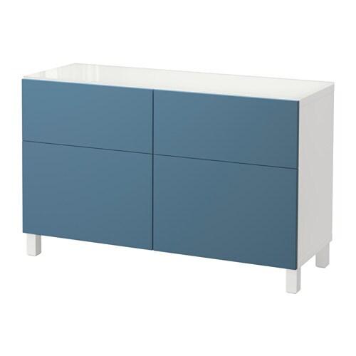 Best combinaison rangement tiroirs blanc valviken bleu fonc glissi re ti - Ikea rangement tiroir ...