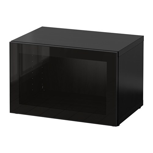best tag re avec porte vitr e brun noir glassvik noir. Black Bedroom Furniture Sets. Home Design Ideas