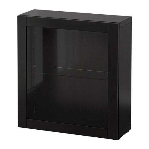best tag re avec porte vitr e sindvik brun noir ikea. Black Bedroom Furniture Sets. Home Design Ideas