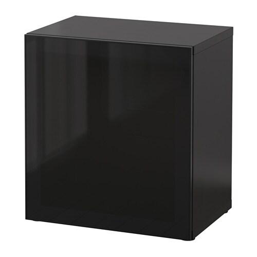 best tag re avec porte vitr e brun noir glassvik noir verre fum ikea. Black Bedroom Furniture Sets. Home Design Ideas