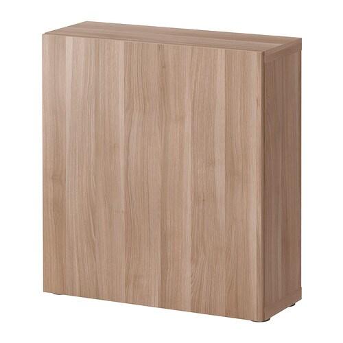 best tag re avec porte lappviken motif noyer teint gris ikea. Black Bedroom Furniture Sets. Home Design Ideas
