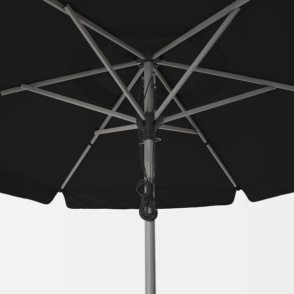 BETSÖ / VÅRHOLMEN Parasol, gris effet bois/gris foncé, 300 cm