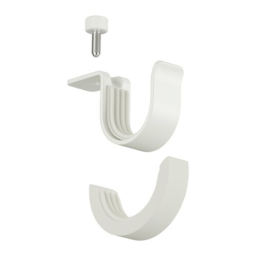 betydlig support de tringle 224 rideau blanc ikea