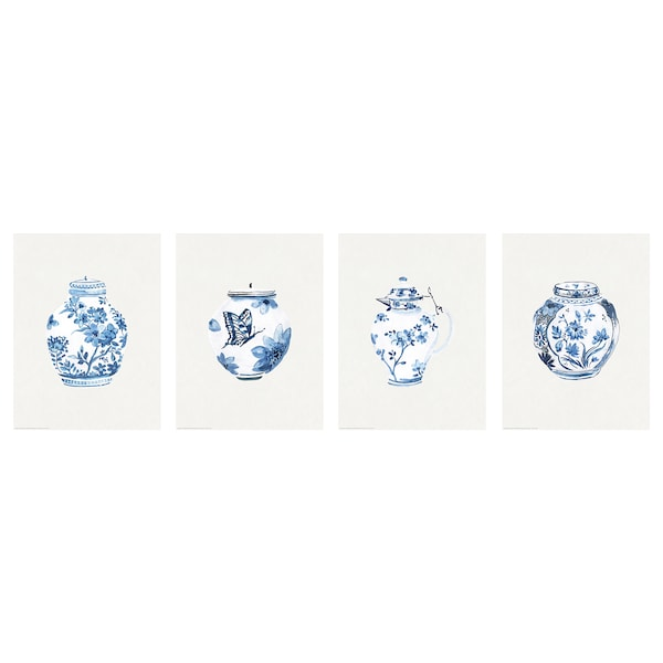 BILD Image, urnes bleues et blanches, 30x40 cm