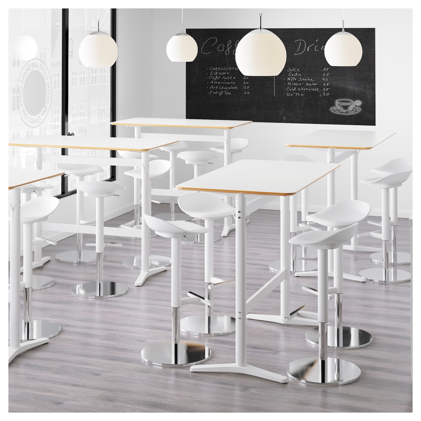 billsta table de bar blanc blanc 130x70 cm ikea. Black Bedroom Furniture Sets. Home Design Ideas