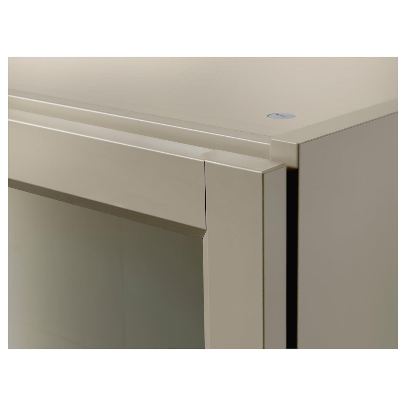 Billy Biblioth Que Avec Portes Beige 80x30x202 Cm Ikea # Bibliotheque Avec Portes Vitrees