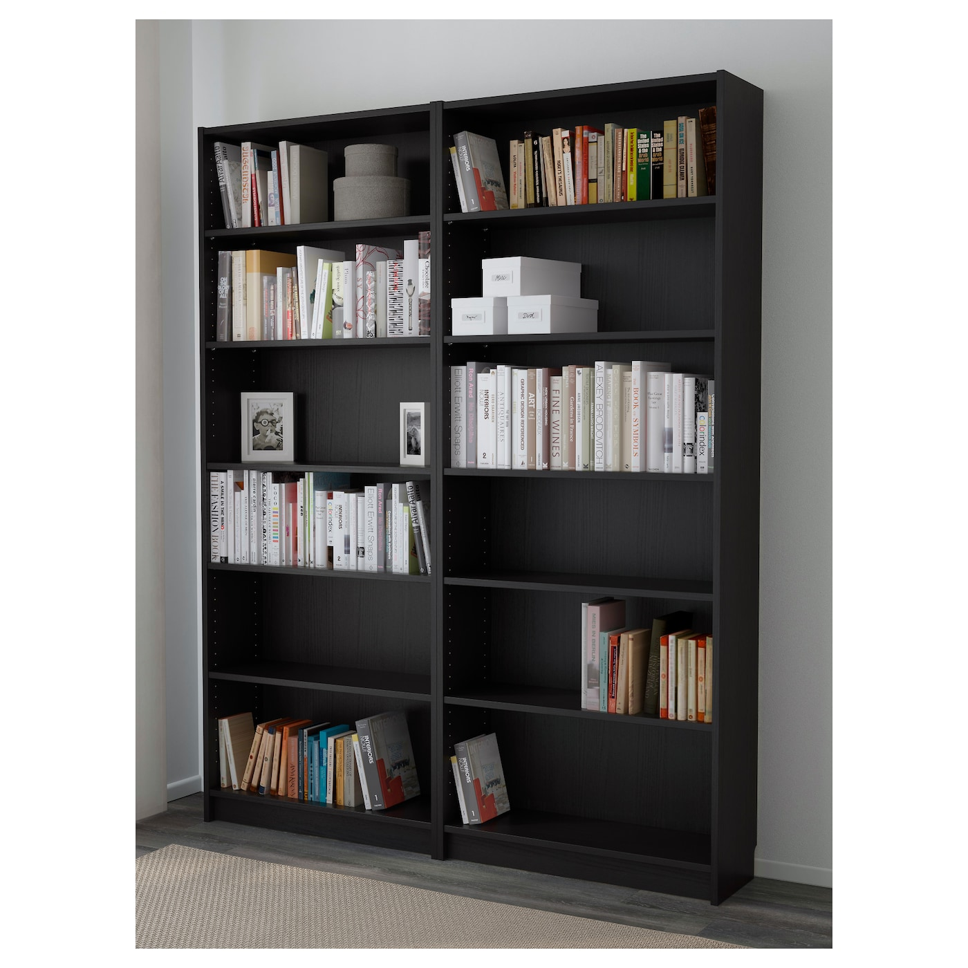 billy biblioth que brun noir 160x202x28 cm ikea. Black Bedroom Furniture Sets. Home Design Ideas