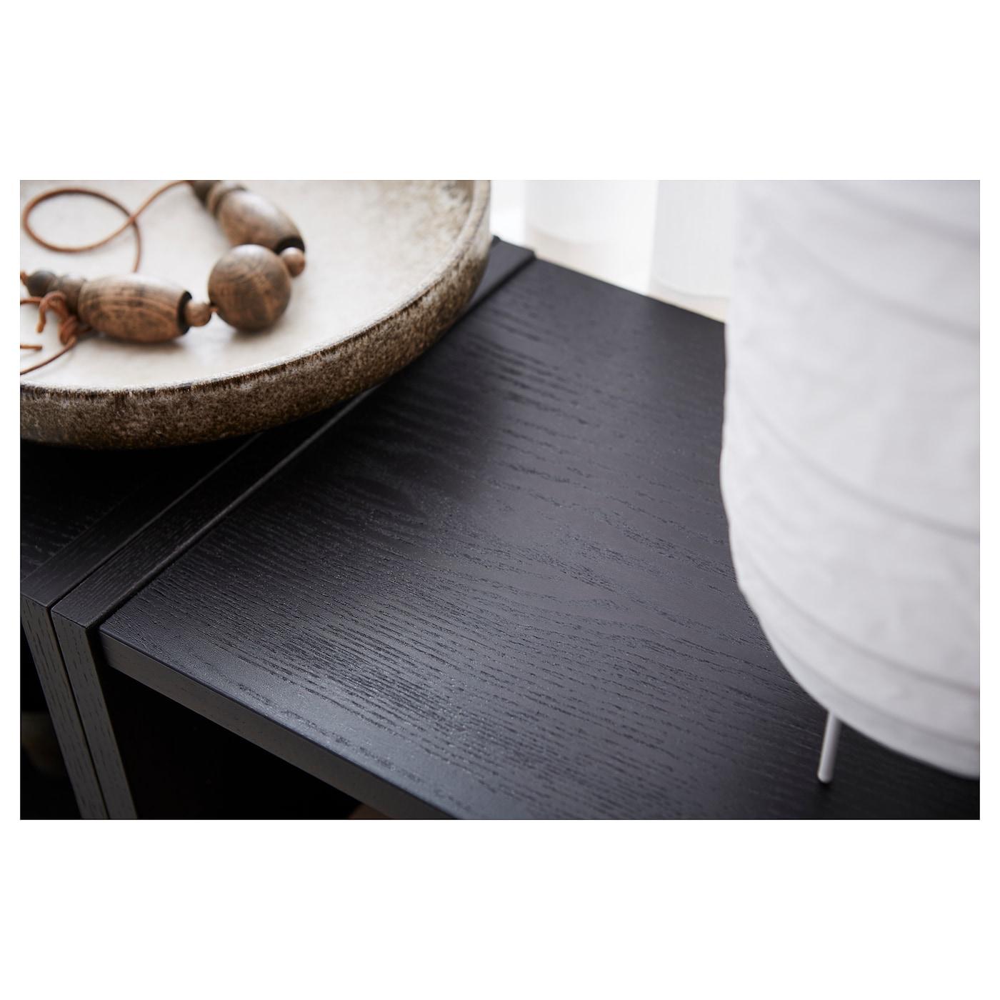 billy biblioth que brun noir 80x28x106 cm ikea. Black Bedroom Furniture Sets. Home Design Ideas