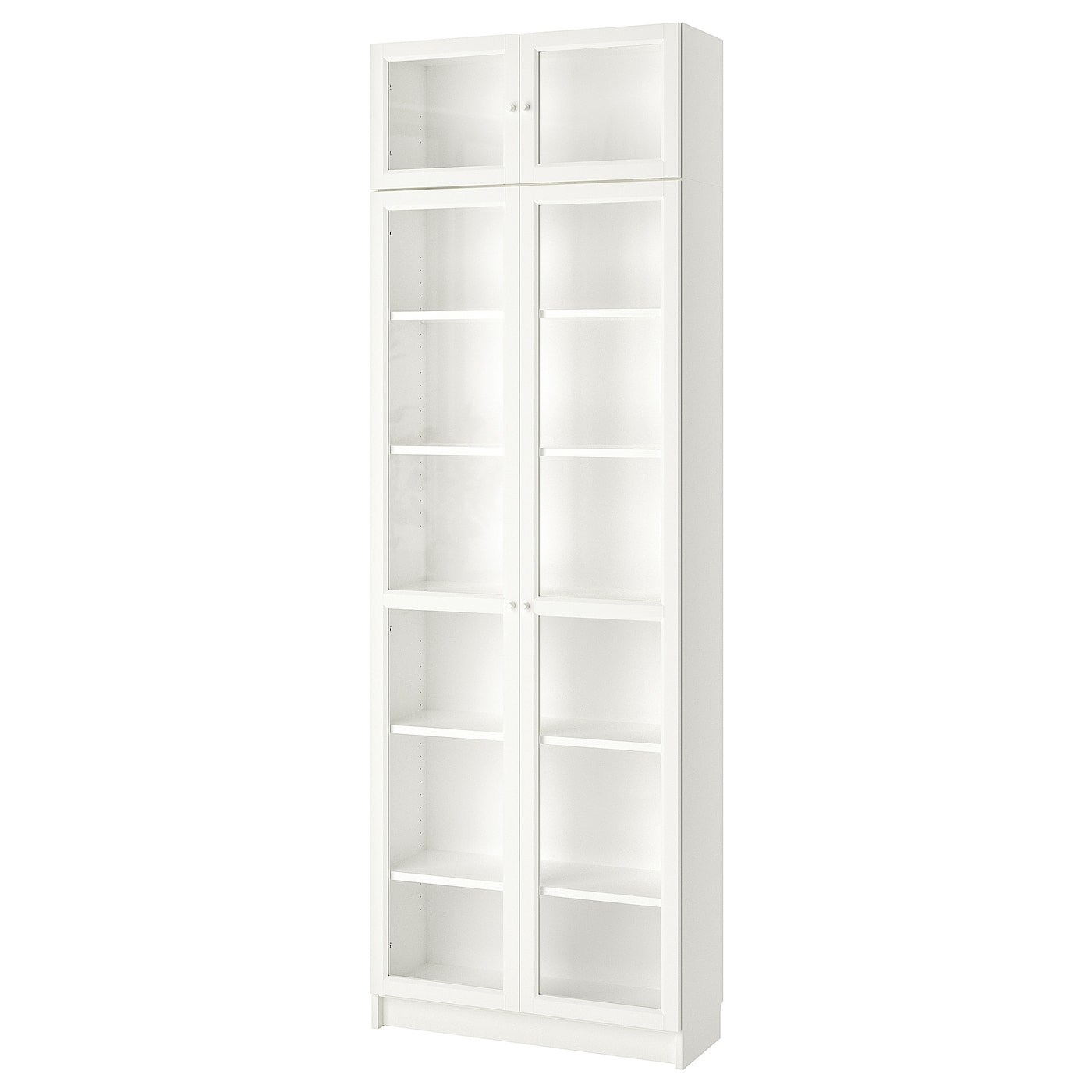 billy oxberg biblioth que blanc 80 x 237 x 30 cm ikea. Black Bedroom Furniture Sets. Home Design Ideas