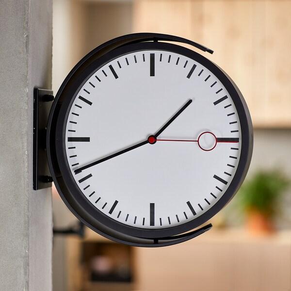 BISSING Horloge murale, noir, 28 cm
