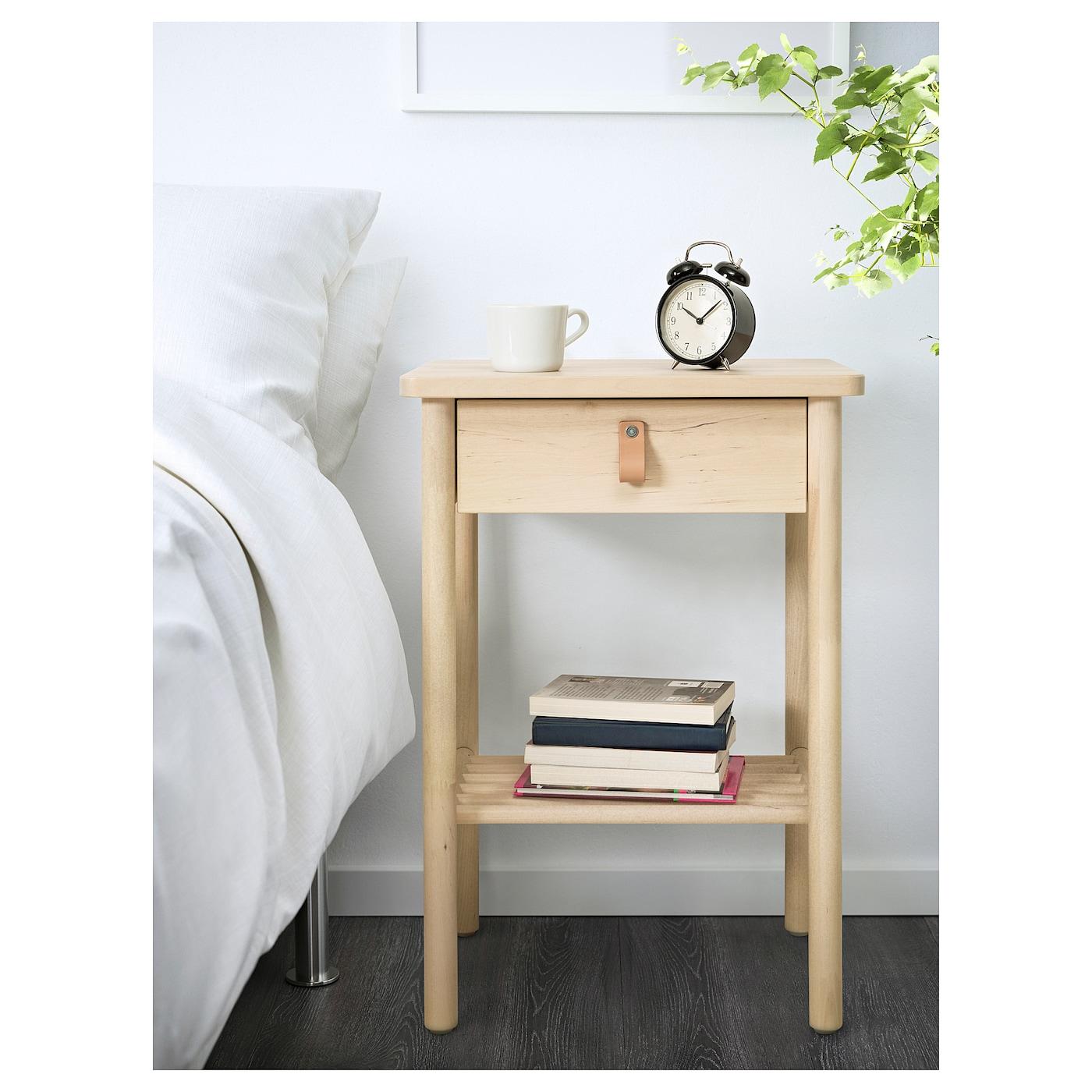 Björksnäs Table De Chevet Bouleau 48 X 38 Cm Ikea