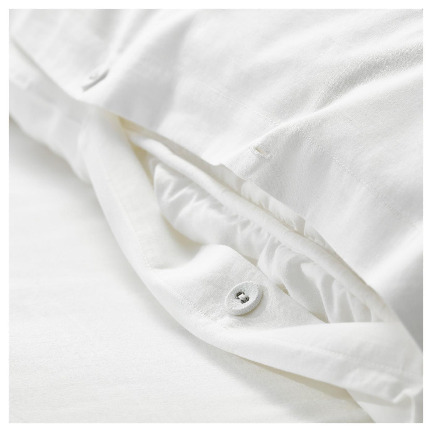 Bj rnloka housse de couette et 2 taies blanc noir 240x220 for Housse couette noir et blanc
