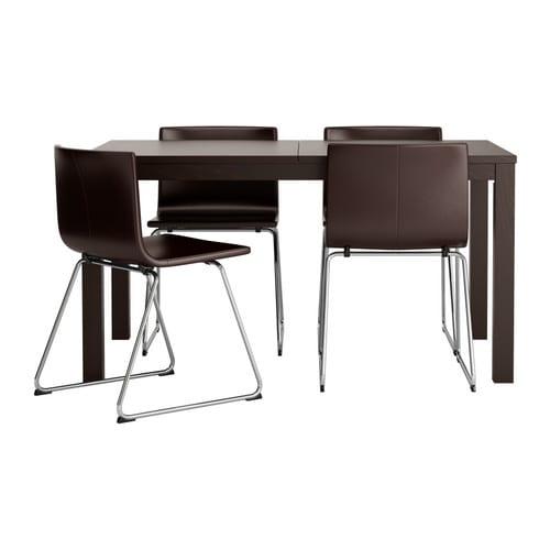 Bjursta bernhard table et 4 chaises ikea for Table et chaises d angle ikea