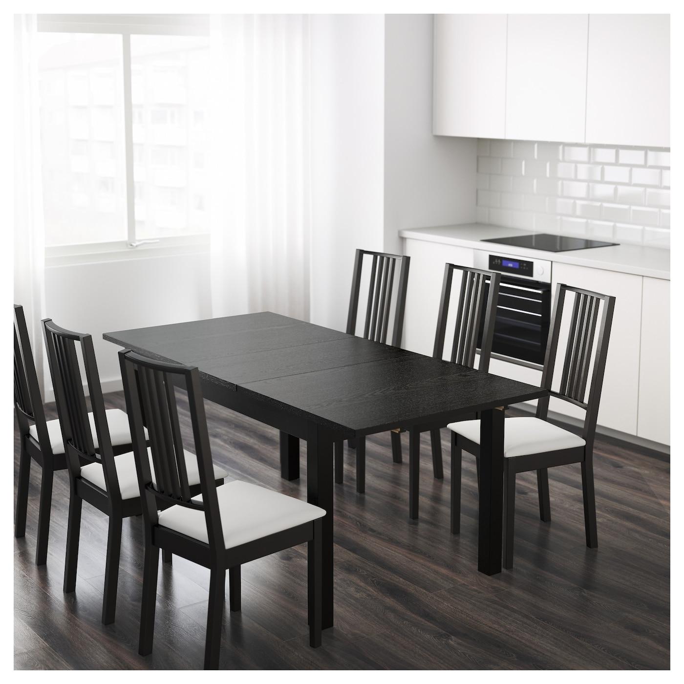 bjursta table extensible brun noir 140 180 220 x 84 cm ikea. Black Bedroom Furniture Sets. Home Design Ideas