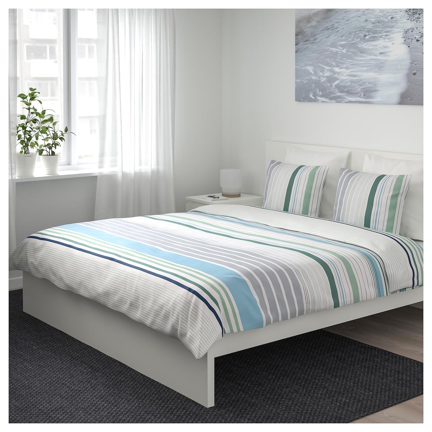 bl rips housse de couette et 2 taies bleu 240 x 220 50 x 60 cm ikea. Black Bedroom Furniture Sets. Home Design Ideas