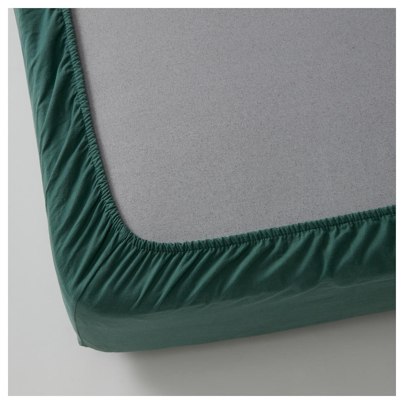bl suga drap housse vert 160x200 cm ikea. Black Bedroom Furniture Sets. Home Design Ideas