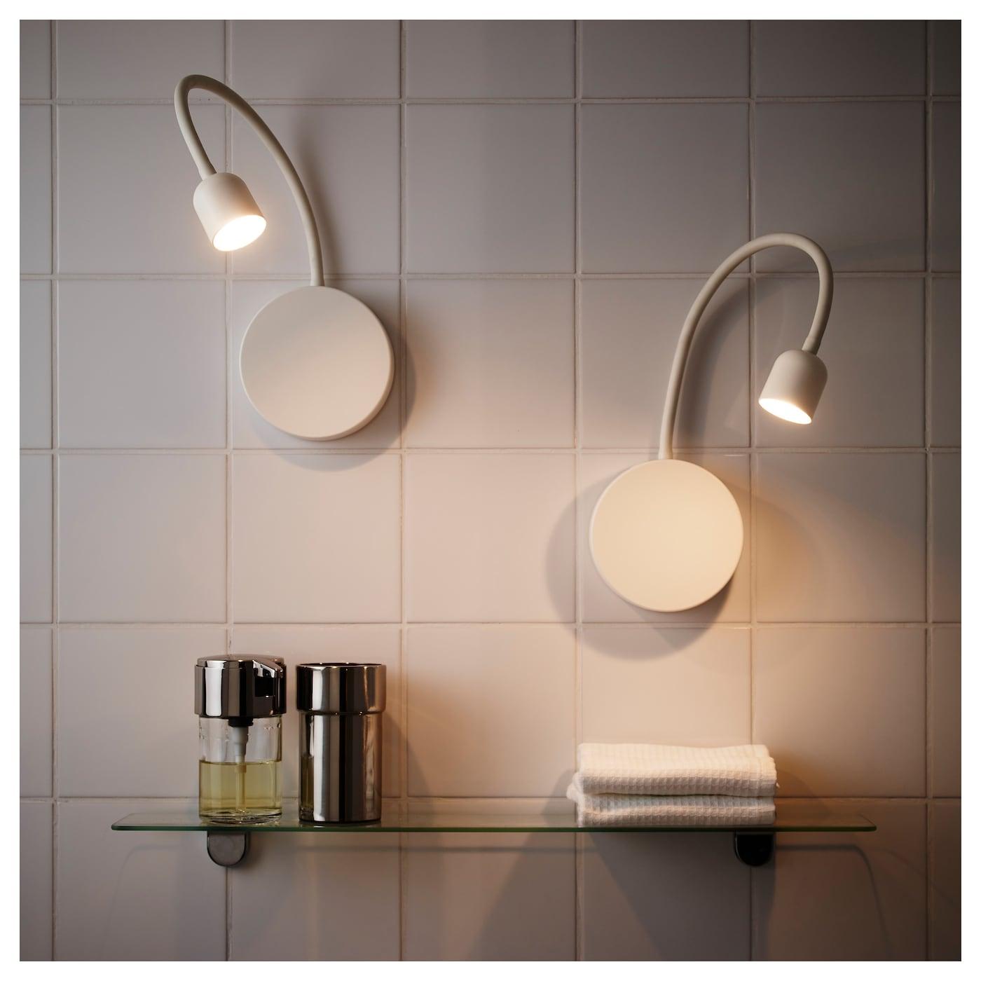 bl vik applique led pile blanc ikea. Black Bedroom Furniture Sets. Home Design Ideas