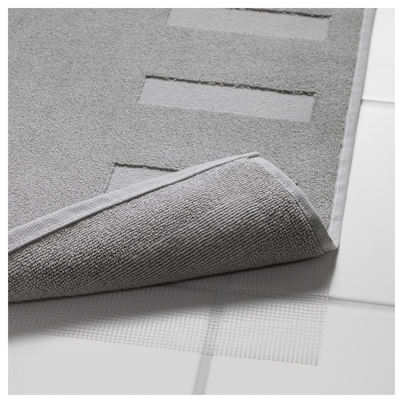blanksj n tapis de bain gris moyen 50x80 cm ikea. Black Bedroom Furniture Sets. Home Design Ideas