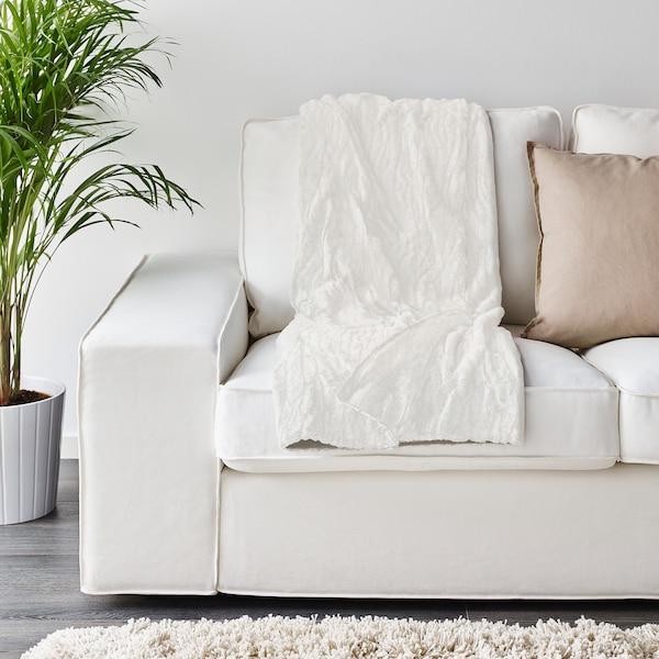 BLÅREGN Plaid, blanc, 130x170 cm