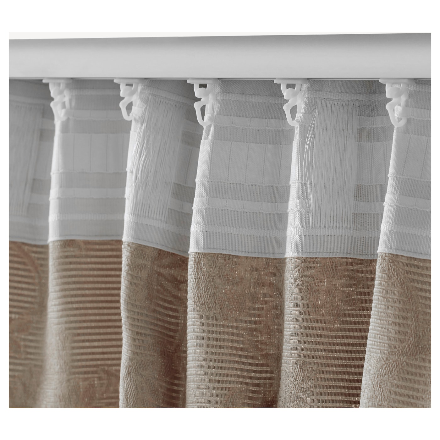 blekviva rideaux embrasses 1 paire beige 145x300 cm ikea. Black Bedroom Furniture Sets. Home Design Ideas