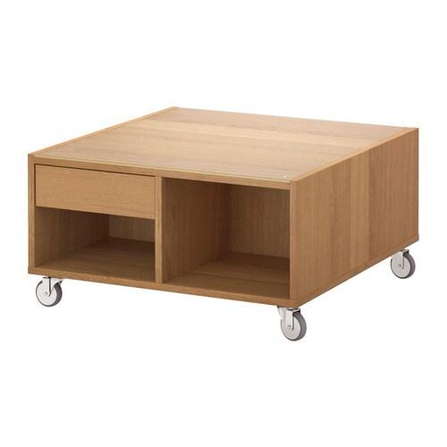 Boksel table basse plaqu ch ne ikea for Ikea table basse noir