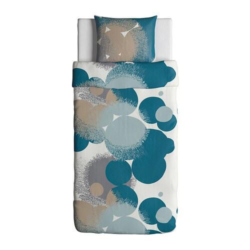 bolltistel housse de couette et taie bleu 150x200 50x60 cm ikea. Black Bedroom Furniture Sets. Home Design Ideas