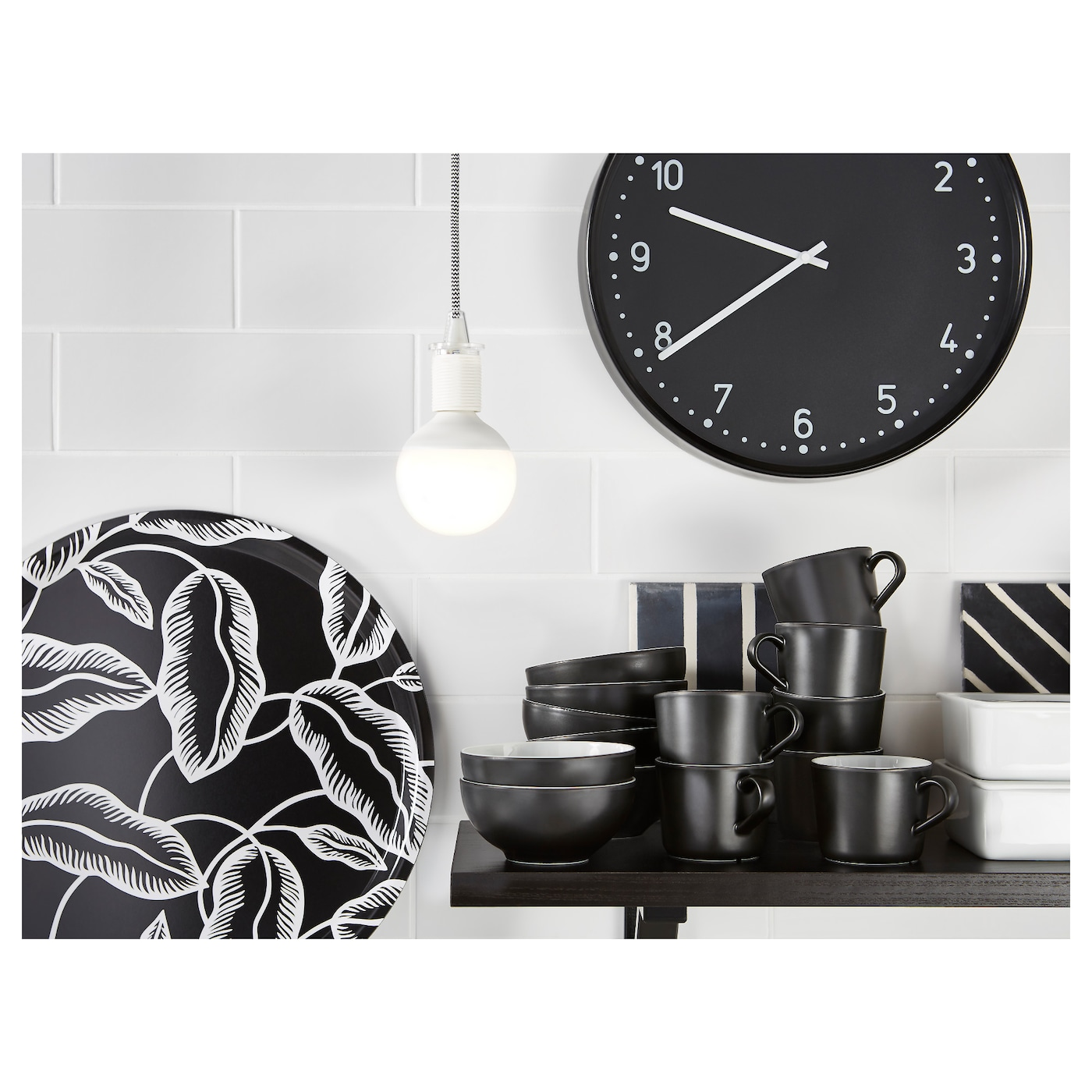 bondis horloge murale noir ikea. Black Bedroom Furniture Sets. Home Design Ideas