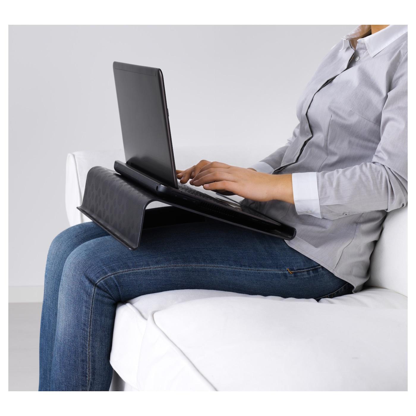 br da support ordinateur portable noir 42x31 cm ikea. Black Bedroom Furniture Sets. Home Design Ideas