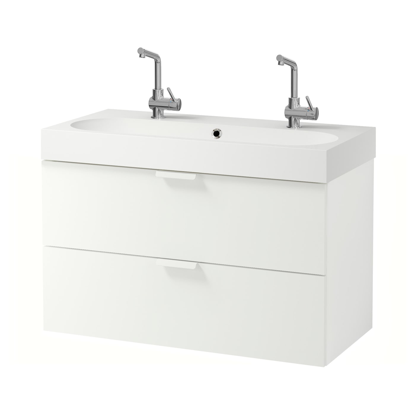br viken godmorgon meuble lavabo 2tir blanc 100 x 48 x 68 cm ikea. Black Bedroom Furniture Sets. Home Design Ideas