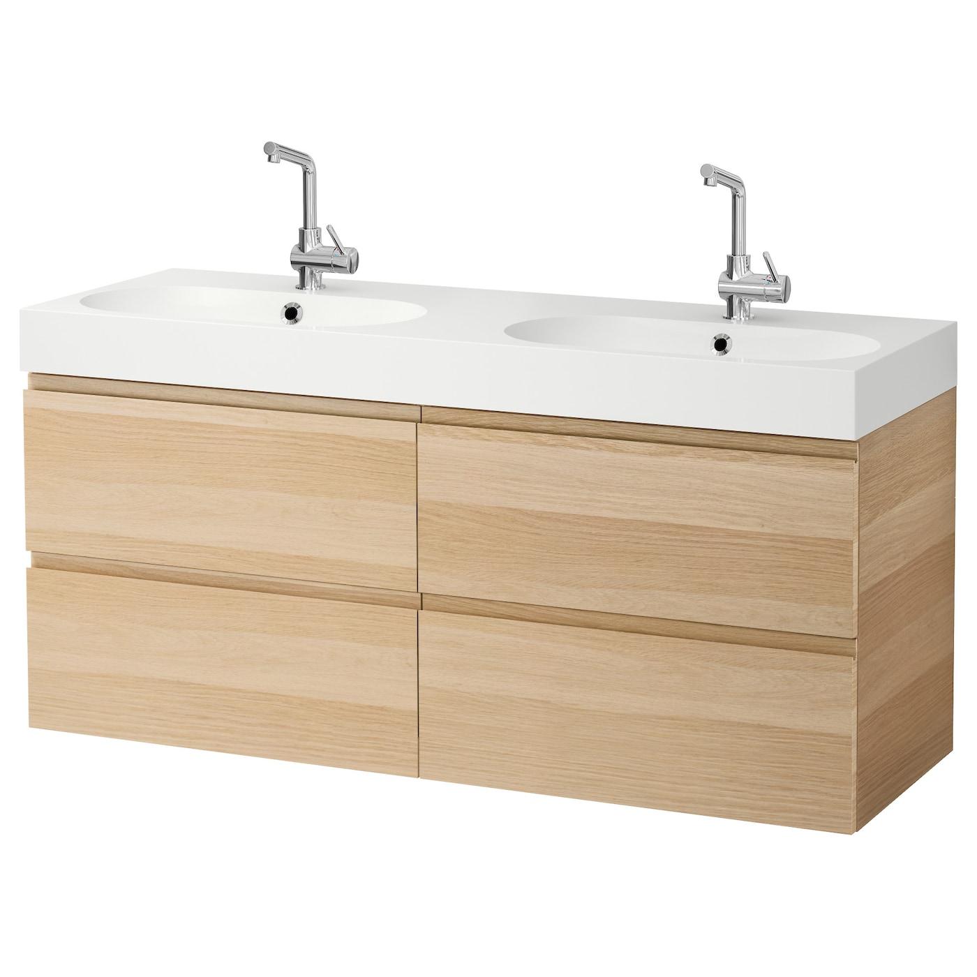 br viken godmorgon meuble lavabo 4tir effet ch ne blanchi. Black Bedroom Furniture Sets. Home Design Ideas