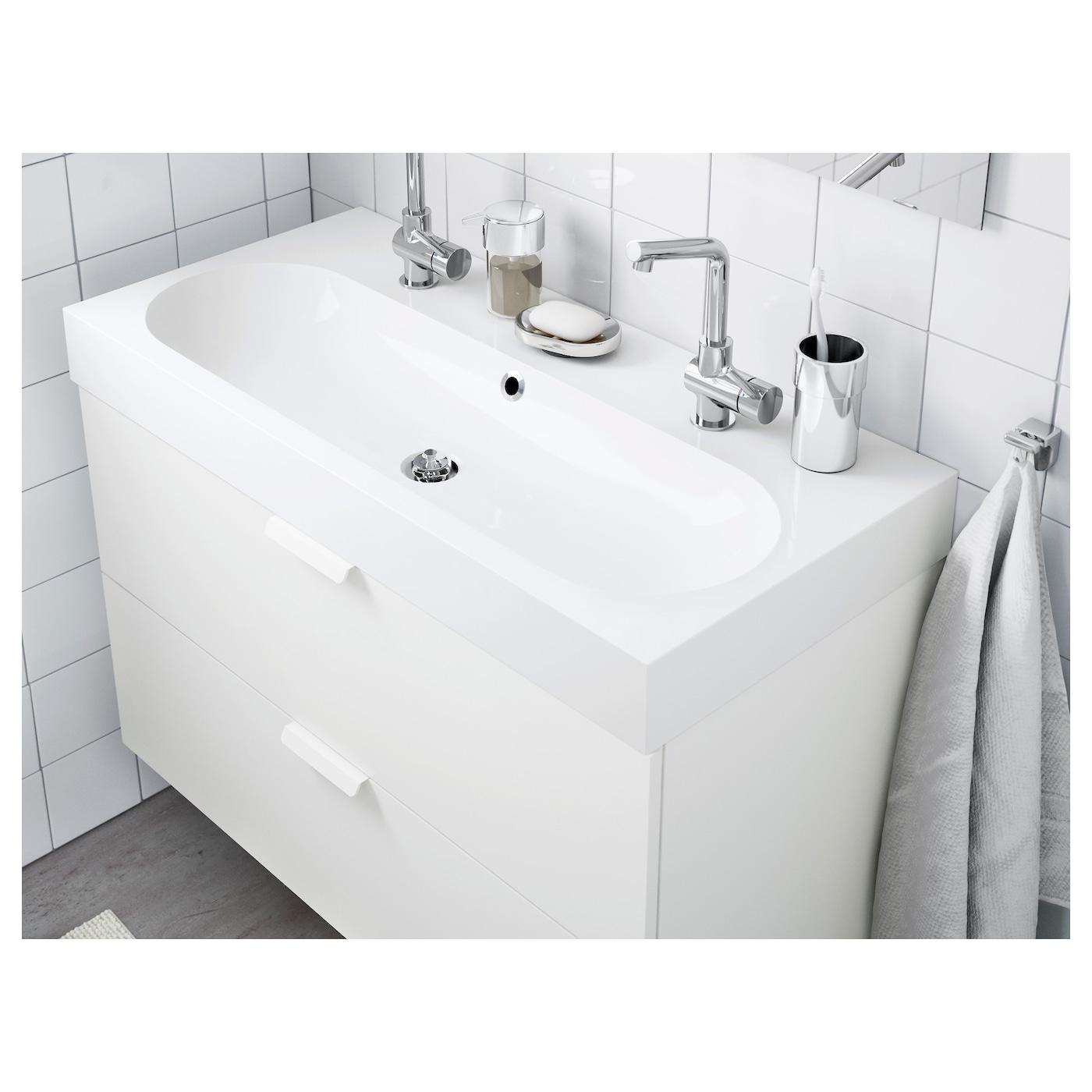 Braviken Lavabo Blanc 100 X 48 X 10 Cm Ikea