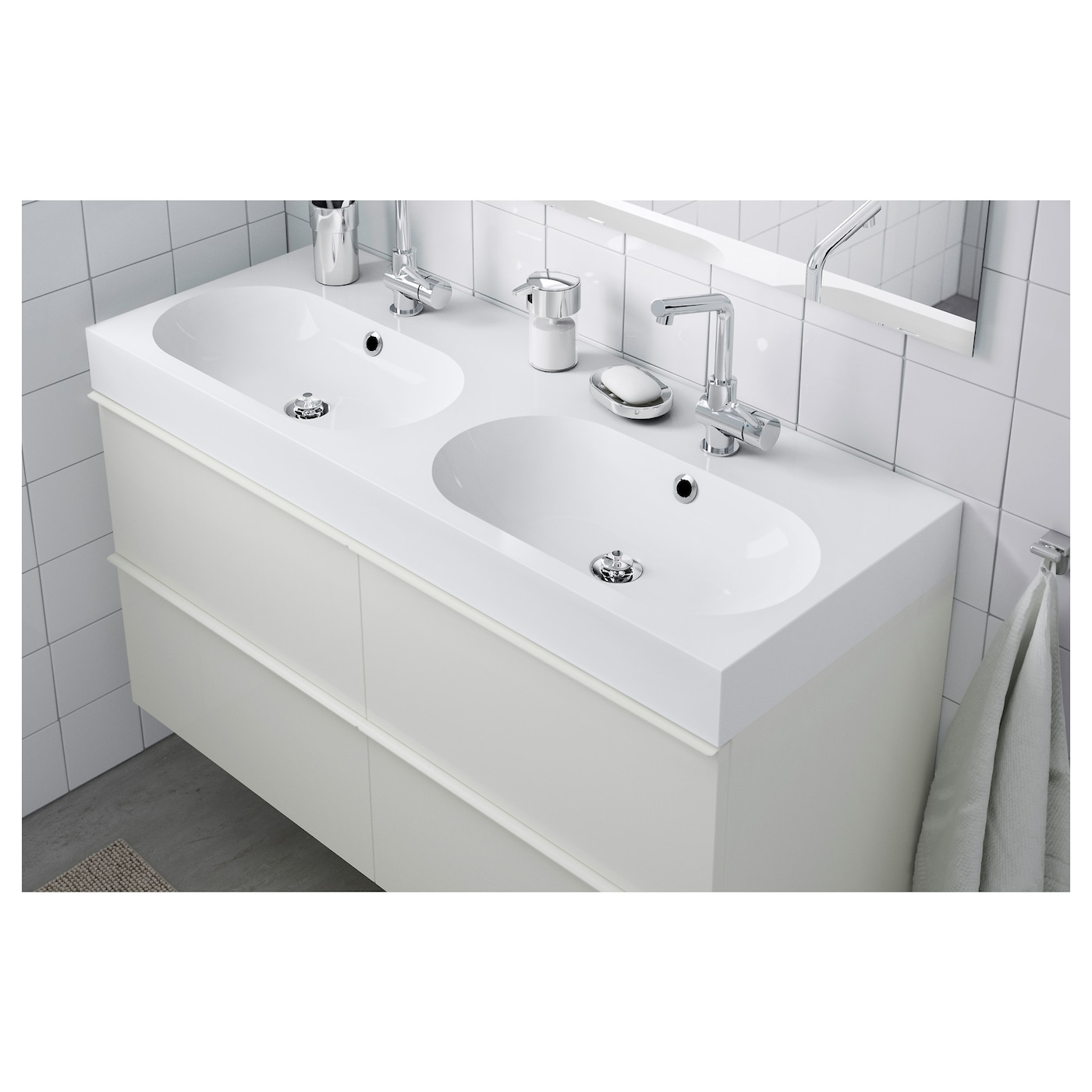 br viken lavabo dble blanc 120x49x10 cm ikea. Black Bedroom Furniture Sets. Home Design Ideas