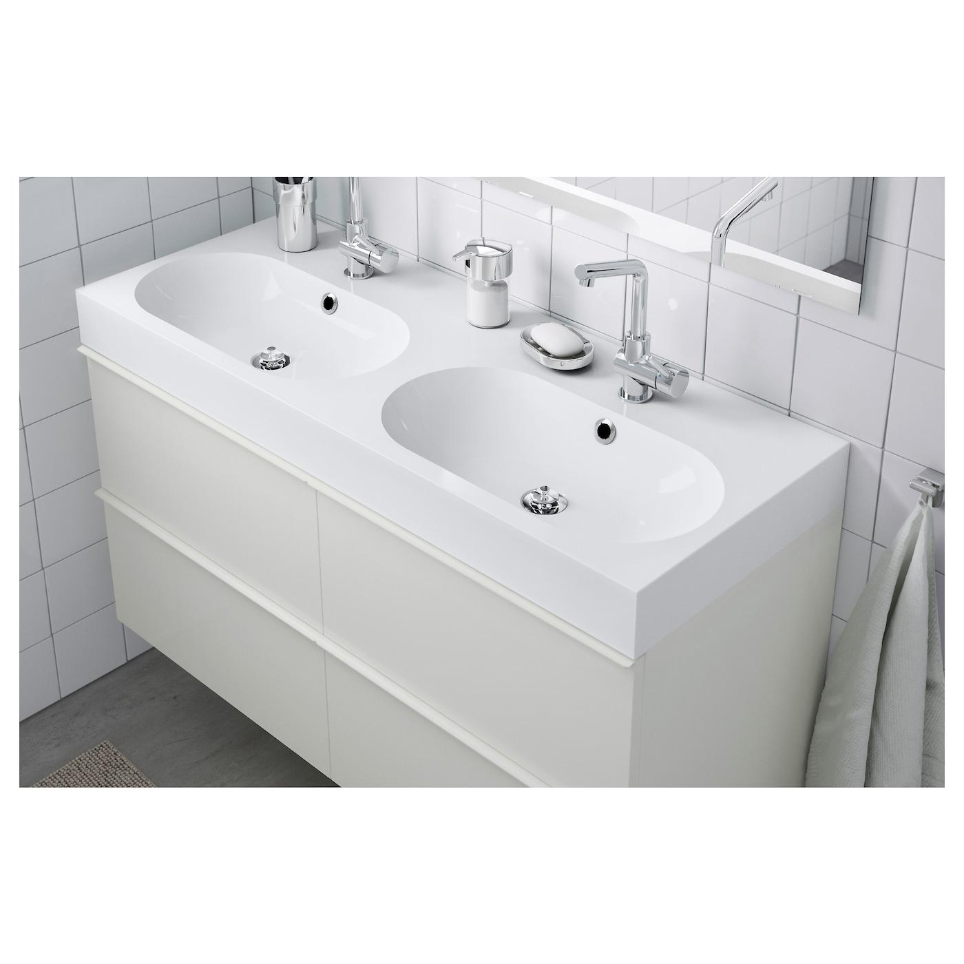 br viken lavabo dble blanc 120x49x10 cm ikea. Black Bedroom Furniture Sets. Home Design Ideas